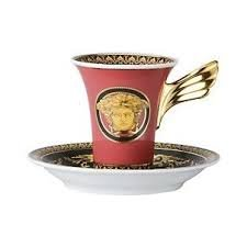 Rosenthal Versace Espressotasse mit Untere Medusa rot Rosenthal Versace Medusa