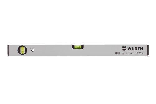 Würth Wasserwaage 80cm, leichte Ausführung aus Leichtmetall (Aluminium), Farbe silber-eloxal, 2 Libellen -- von Technikus