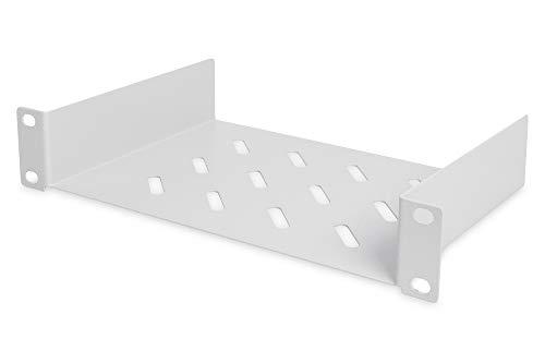 "DIGITUS 10\"" Fachboden für Netzwerk-/Serverschränke - 10 Zoll (254 mm) - perforierter Boden - 1HE - Grau"