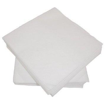 100Alfred Mank Paper Serviettes en papier en lin blanc 40x 40x 40cm–Lot de 2x 50