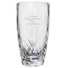 Personalised Crystal Oval Vase - An Ideal Gift For 50th Birthday, Valentine's Day, Bride & Groom, Birthday - Free Personalisation