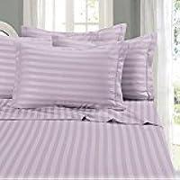 """Linenwalas Striped 2 Piece Cotton Pillow Cover Set - 17""""x27"""", Lavender"""