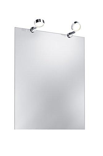 Trio Leuchten LED Bad Spiegelleuchte, Metall, Integriert, 3.2 W, Chrom, 6 x 6 x 2 cm