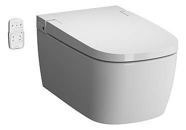 Vitra V-Care Basic Spülrandloses Dusch-WC Taharet WC Bidet Hänge-WC Bidetfunktion Duschtoilette mit Sitzheizung Intimdusche Fernbedienung
