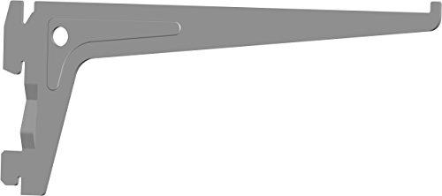 Element System PRO-Träger Regalträger 1-reihig, 2 Stück, 7 Abmessungen, 3 farben, lange 20 cm für Regalsystem, Wandschiene, weißaluminium, 18133-00005