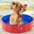Foldable Dog Pet Pool Bathing Tub Gas-filled PVC Swimming Pool
