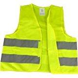 Warnweste EN471 gelb, knitterfrei, waschbar, Standardgröße Motorrad Safety Jacket
