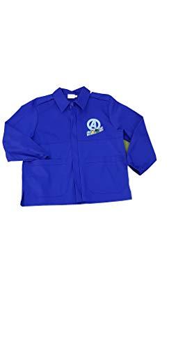 Super eroi grembiule corto avengers blu ragazzo scuola elementare per bambino (art. aa941025) (blu, 70-7 anni)