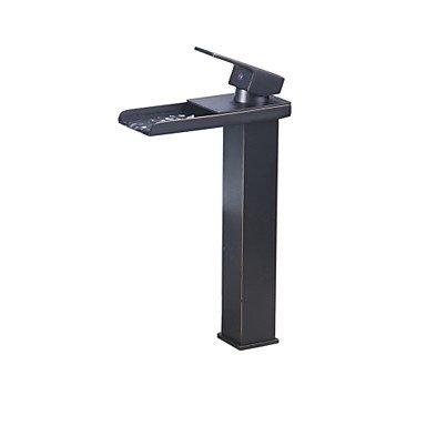 ZQ Waterfall bathroom sink faucet vessel lavatory faucet bath-plating copper ORB