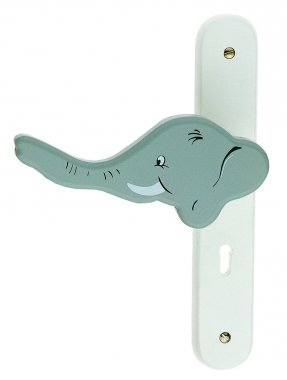 Poignée de porte intérieure pour chambre Enfant sur plaque Eléphant