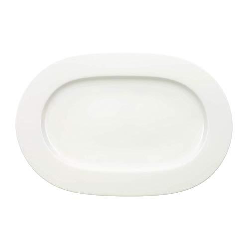 Villeroy & Boch klein Royal Platte oval, Porzellan, weiß, 44.5 x 33.2 x 4 cm Ovale Platte