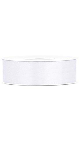 Ruban en Satin - Blanc x 25 m - Taille Unique
