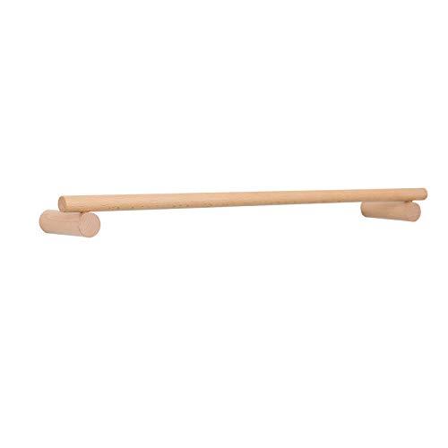 Anaan line disegno appendiabiti da parete attaccapanni a muro in legno portasciugamani resistente lunghezza montaggio a parete scandinavo moderno (faggio, 60 cm)