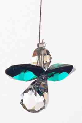 Swarovski Hanging Crystal Guardian Angel Birthstone Suncatcher MAY - EMERALD