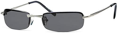 Feinzwirn flache sportlich elegante Sonnenbrille Irvillac mit Flexbügeln für schmale Köpfe + Brillenbeutel - Agent Smith Sonnenbrille