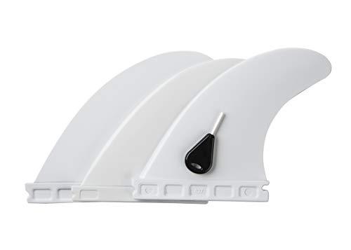Liquida Surfboard Finnen, Future Fin System, G5 Medium, Thruster, 3 Stück, inkl. Fin-Key, versch. Farben (weiß)