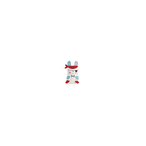 pirulos 86211813–Spielzeug Microfaser Decke, 80x 90, Design Pirat, weiß und blau