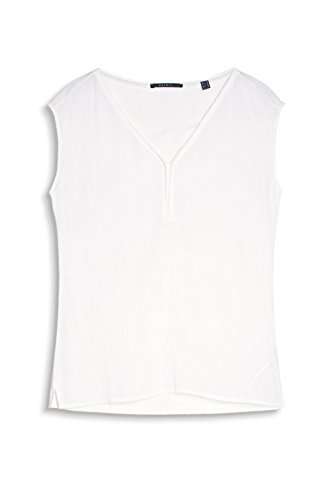 ESPRIT Collection Damen T-Shirt 047eo1k024 Weiß (Off White 110)