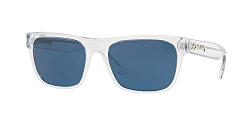 BURBERRY Herren 0BE4268 302480 56 Sonnenbrille, Weiß (Transparent/Blue),