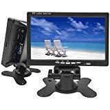 Camecho Mini ordenador y tv pantalla 17,7 cm / 7pulgadas HD monitor LCD de cámara de vigilancia cámara de marcha atrás soporte HDMI o VGA/Video/Audio con enchufe.
