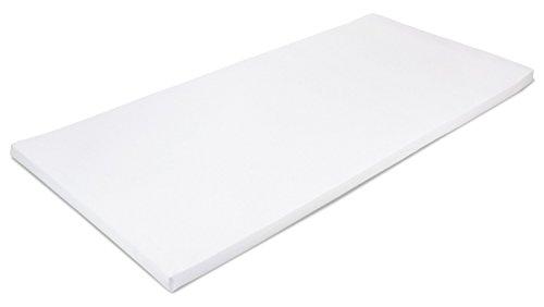 MSS 100300-200.90.4 Viscoelastische Matratzenauflage, RG50, mit Bezug, Größe 90 x 200 x 4 cm -