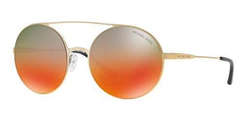 Michael Kors Damen CABO 1193A8 55 Sonnenbrille, Pale Gold-Tone/Tealtoorangegradientmirror,