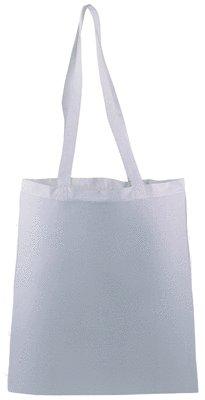 10Einkaufsbeutel aus Baumwolle, Farbe Weiß, ideal für Malerei auf Stoff