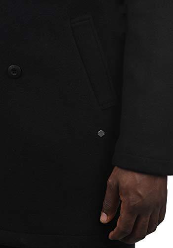 !Solid Harvey Herren Winter Mantel Wollmantel Lange Winterjacke mit Doppelreihiger Knopfleiste, Größe:M, Farbe:Black (9000) - 6