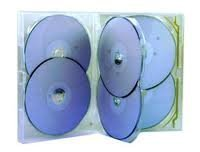 Amaray 6 Way Dvdcd Case - 5 Pack