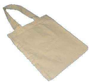 10 x Plain Cotton Bag 25cm x 21cm - Ideal For Fabric Painting