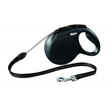 Med-kette (flexi-bogd Flexi Classic schwarz 8m Kabel med-Paket 1)
