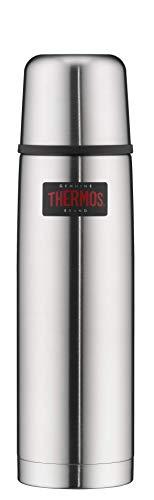 THERMOS 4019.205.075 Thermosflasche Light & Compact, Edelstahl mattiert 0,75 l, Spülmaschinenfest, 18 Stunen heiß, 24 Stunden kalt