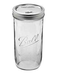 Ball Jar with Lid and Band - Pick Your Size and Color (Clear, Wide Mouth Pint & Half - 24 oz.) by Ball 24 Oz Wide Mouth