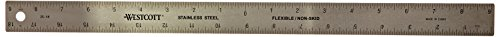 Westcott ZC-18 - Righello in acciaio INOX, zero center, 45,7 cm