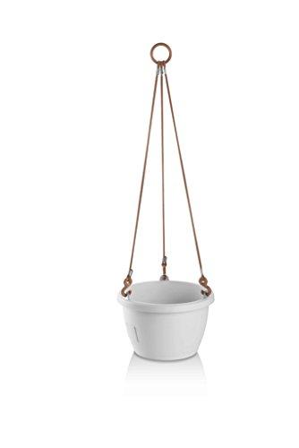 Erhard-Trading Hängeblumentopf Marina Blumenampel Selbstbewässerung 20cm (Weiß)