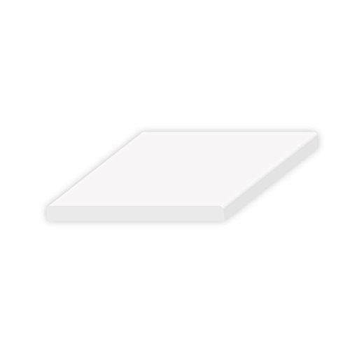 Fensterleiste, Fensteranschluss, Mauerwerksanschluss, Abdeckleiste, Flachleiste, Deckleiste aus Kunststoff Länge 6m Breite 20mm bis 100mm Höhe 2,5mm in der Farbe weiss (Deckleiste B x H 35 x 2.5mm | Länge 6m | | Farbe weiss)