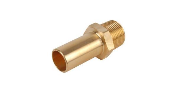 NEW Compressed Air Male Brass Stem Adaptor 15mm x 1//2 BSPT Each