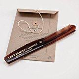 CAPTAIN FAWCETT Folding Pocket Beard Comb / CAPTAIN FAWCETT Faltung Tasche Bart Kamm 193mm -
