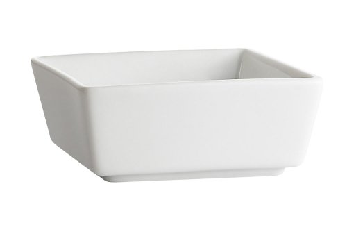 CAC China F-BW3 Fortune 2-7/8-Inch 4-Ounce Super White Porcelain Square Bowl, Box of 48
