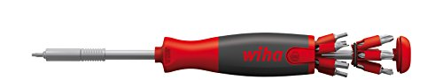 Preisvergleich Produktbild Wiha, Schraubendreher mit Bit Halter, Liftup 26one, langlebig, 13 Doppelbits, Bit Magazin im Griff, 26 in 1, Set, universell, Bitsatz, Bithalter, platzsparend, kompakt, stabil
