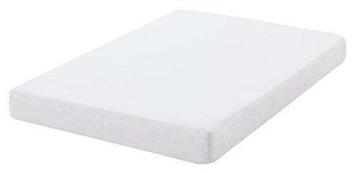 Belnou Brissa Matratzenschoner, Baumwolle, Weiß, Einzelbett, 90x 200x 8cm (Brissa La)