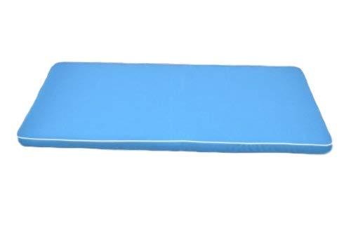 Coussin de Banc de jardin Luxe 2 personnes/1.1m- avec remplissage de haute qualité- utilisation interieure/exterieure- coussin UNIQUEMENT - couleur Bleu clair