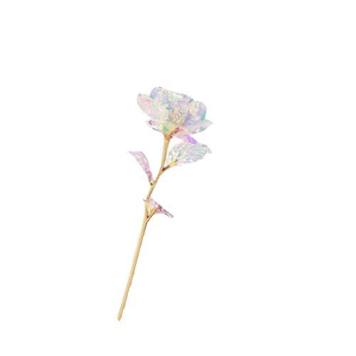 goodjinHH Bunte Galaxy Rose mit Love,einzigartige romantische Geschenk für Valentinstag, Jubiläum, Muttertag, Geburtstagsgeschenk (C) (24k Rose Bouquet)