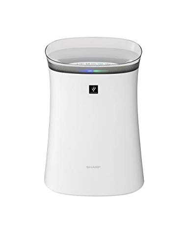 Sharp Air Purifier for Homes & Offices | Dual Purification - ACTIVE (Plasmacluster Technology) & PASSIVE FILTERS (True HEPA+Carbon+Pre-Filter) | Captures 99.97% of Impurities | Model:FP-F40E-W | White