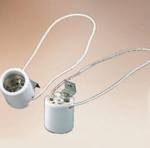 Mogul-E26 (= e) Base schlüsselloses Lampe Fassung Sockel Porzellan Einbaufassung 1500 K 4KV Kleiderbügel Typ senkrecht zum Aufhängen -