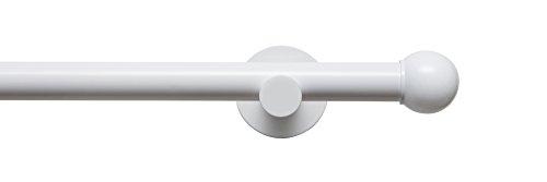 Tilldekor Gardinenstange HIGH-LINE FORMENTOR, weiß-glanz, Ø 20 mm,1-Lauf, 240 cm, inkl. Trägern und Endstücken