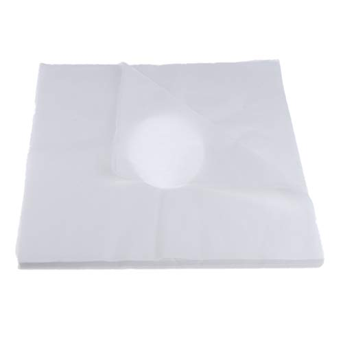 B Blesiya 100 Stk Nasenschlitztuch/Gesichtsauflage / Massageliege Auflage/Kopfstützenbezug (Einwegauflage) / Kopfteil Bezug (Einmal Auflage) - Weiß, wie beschrieben - Weiß Kopfteil