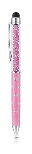 Price comparison product image QUALITY 2-in-1 Capacitive Touchscreen Stylus and Ballpoint Pen with Swarovski Crystals. FREE REFILL - UK SELLER (pink)