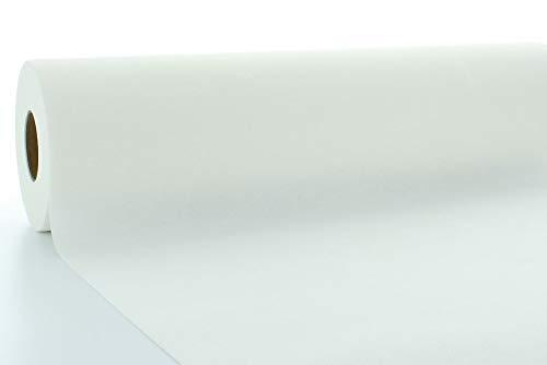 Tischdeckenrollen Uni | Rollenware 120 cm x 40 m aus Airlaid stoffähnlich | Mank Einmal-Tischdecke für Gastronomie | (Weiß, 120 cm x 40 m)