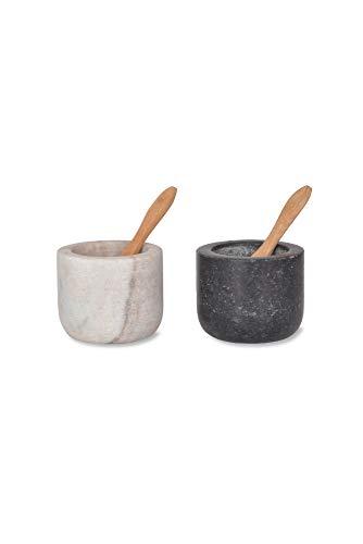 Garden Trading spmg01Brompton Salz- und Pfefferstreuer Granit, Marmor, schwarz und weiß -